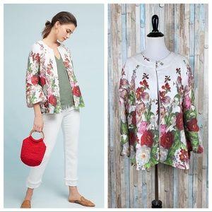 Anthropologie L Eva Franco Rose Linen Coat Jacket